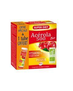 Super Diet Acérola 500 Bio - 24 Comprimés +1 Tube Offert