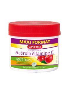 Super Diet Maxi Pot Acérola Vitamine C - 90 Comprimés Sécables à Croquer