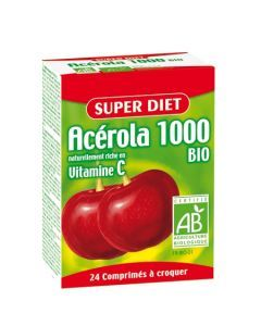 Super Diet Acérola 1000 Vitamine C Bio 24 Comprimés