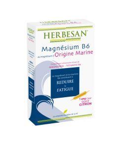Herbesan Magnésium Marin + Vit. B6 - 20 Ampoules de 15Ml