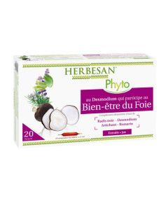 Herbesan Phyto Desmodium Digestion Non Bio - 20 Ampoules de 15Ml