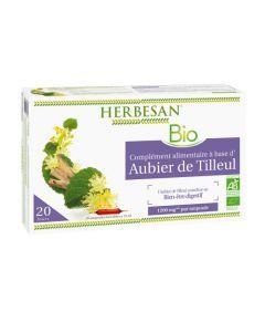 Herbesan Aubier De Tilleul Bio - 20 Ampoules de 15 Ml