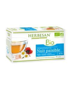 Herbesan Infusion Camomille Nuit Paisible Bio - 20 Sachets
