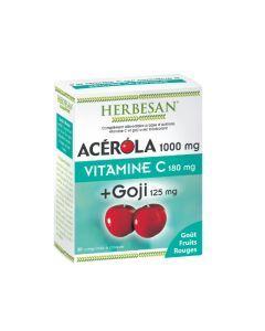 Herbesan Acérola 1000 + Goji - 30 Comprimés à Croquer