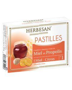 Herbesan Pastilles Miel Propolis - 24 Pastilles
