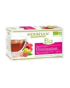 Herbesan Infusion Hibiscus Élimination Bio - 20 Sachets