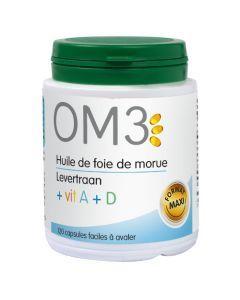 OM3 Huile De Foie De Morue Vit A + D   - 120 Capsules