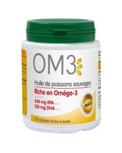 OM3 Huile De Poisson Riche En Omega 3 - 120 Capsules