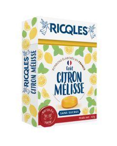 Ricqlès Sucres Cuits Citron Mélisse Sans Sucres 40g
