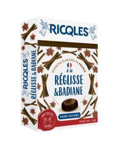 Ricqlès Sucres Cuits Réglisse Badiane Sans Sucres 40g