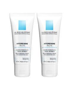 La Roche-Posay Hydreane Riche Crème Hydratante Lot de 2x40ml