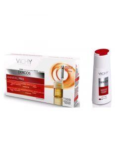 Vichy Dercos Aminexil Pro Traitement Anti-chute Femme X18 + Shampooing Énergisant 200ml Offert