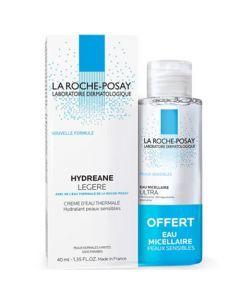 La Roche-Posay Hydreane Crème Hydratante Légère 40ml + Eau Micellaire Offerte 50ml