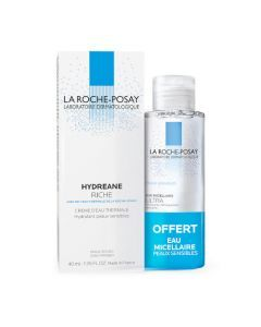 La Roche-Posay Hydreane Crème Hydratante Riche 40ml + Eau Micellaire Offerte 50ml