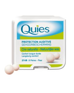 Quies Boules de Cire Naturel 8 Paires