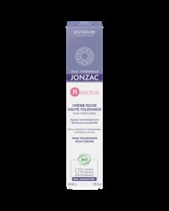 Jonzac Crème Riche Haute Tolérance Sans Parfum 40ml