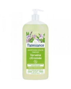 Natessance shampoing Douche Tonifiant Verveine Citronnée Bio 1L