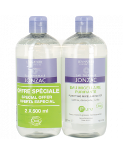 Jonzac Eau Micellaire Purifiante Lot de 2 x 500ml