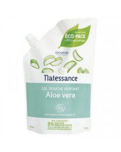 Natessance Gel douche Bio Vivifiant à L'Aloe Vera Éco-Pack 650ml