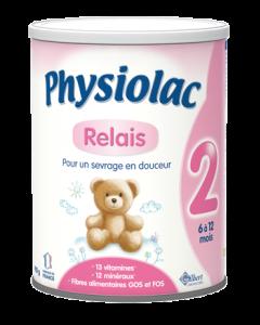 Physiolac Lait 2ème Âge Relais 900g