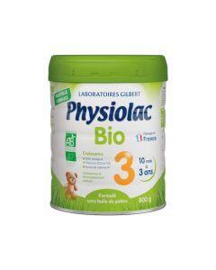 Physiolac Bio 3 Croissance Lait de Croissance 1-3 Ans 800g