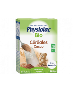 Physiolac Bio Céréales Cacao 200g