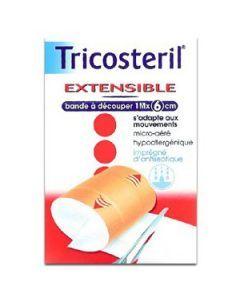 Tricosteril Extensible Bande 1mx6cm