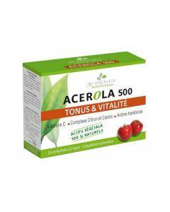 3 Chênes Acérola 500 Tonus et Vitalité 24 Comprimés