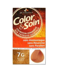 3 Chênes Color & Soin Coloration 7g Blond Doré 135ml