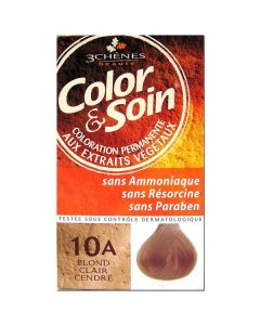 3 Chênes Color & Soin Coloration 10a Blond Clair Cendré 135ml