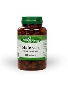 Nat&Form Maté Vert 200 Gélules