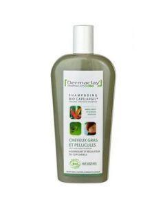 Dermaclay Bio Capilargil shampoing à l'Argile Verte Cheveux Gras et Pellicules 400ml