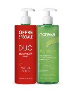 Noreva Actipur Duo - Gel Nettoyant 2 x 400ml