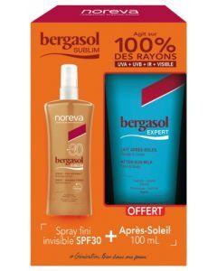 Noreva Bergasol Sublim Spray SPF30 125 ml + Bergasol Expert Lait Après-Soleil 100 ml Offert