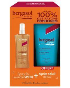 Noreva Bergasol Sublim Spray SPF20 125 ml + Bergasol Expert Lait Après-Soleil 100 ml Offert