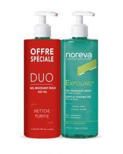 Noreva Exfoliac  Duo - Gel Moussant Doux 2 x 400ml