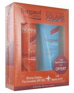 Noreva Bergasol Expert Brume Solaire SPF50+ 150ml + Lait Après-Soleil 100ml Offert