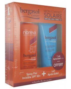 Noreva Bergasol Expert Spray SPF50+ 125 ml + Lait Après-Soleil 100ml Offert
