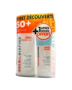 Soleil Biafine Coffret Spray SPF 50+ 200ml + Lait Après-soleil Offert 50ml
