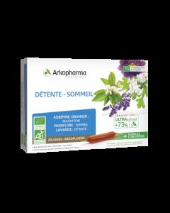 Arkopharma Arkofluides Détente et Sommeil Bio  20 ampoules