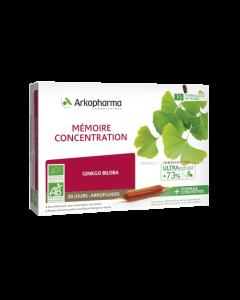 Arkopharma Arkofluides Mémoire et Concentration Bio 20 ampoules