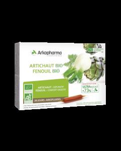 Arkopharma Arkofluides Artichaut et Fenouil Bio 20 ampoules