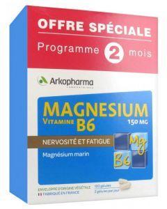 Arkopharma Magnésium et Vitamine B6 120 gélules