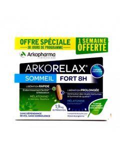 Arkopharma Arkorelax Sommeil Fort 8H Mélatonine Valériane 30 Comprimés