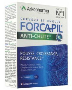 Arkopharma Forcapil Anti-Chute Cheveux et Ongles 30 Comprimés