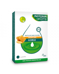 Phytosun Arôms Pastilles Gorge Arôme Miel sans Sucres 24 pastilles