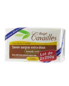 Rogé Cavaillès Savon Extra Doux Amande Verte Surgas Actif 2x250g