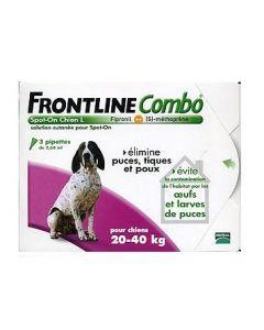 Frontline Combo Pour Chien de 20 à 40kg 3 Pipettes