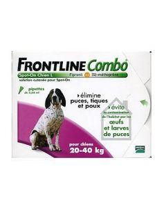 Frontline Combo Pour Chien de 20 à 40kg 6 Pipettes