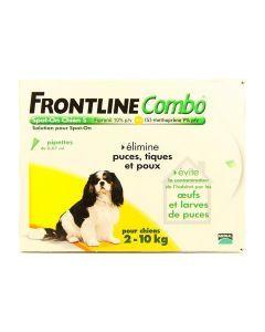 Frontline Combo Pour Chien de 2 à 10kg 6 Pipettes